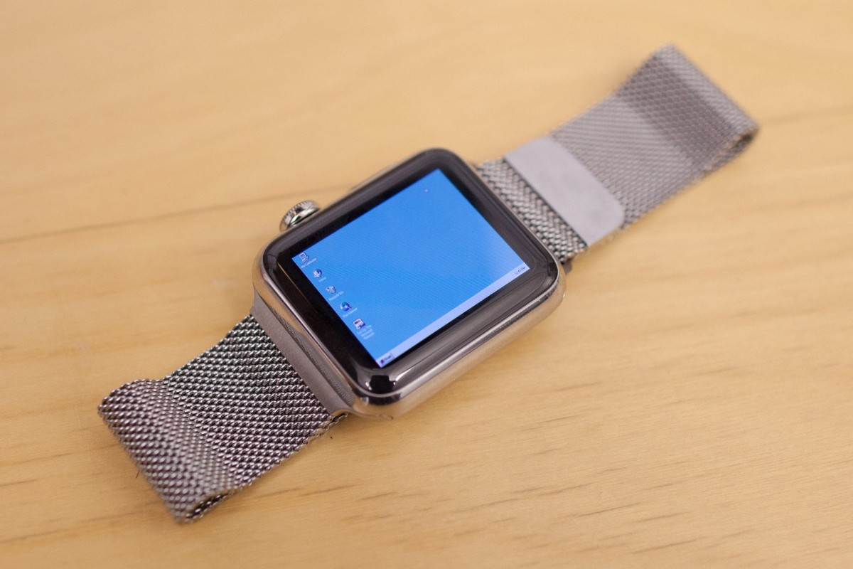Windows 95 på Apple Watch. Foto: Nick Lee