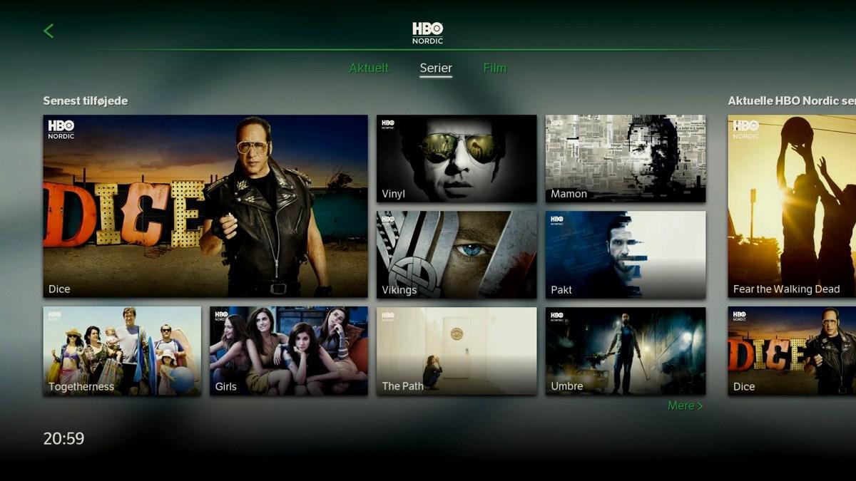 HBO Nordic serier. Foto: recordere.dk