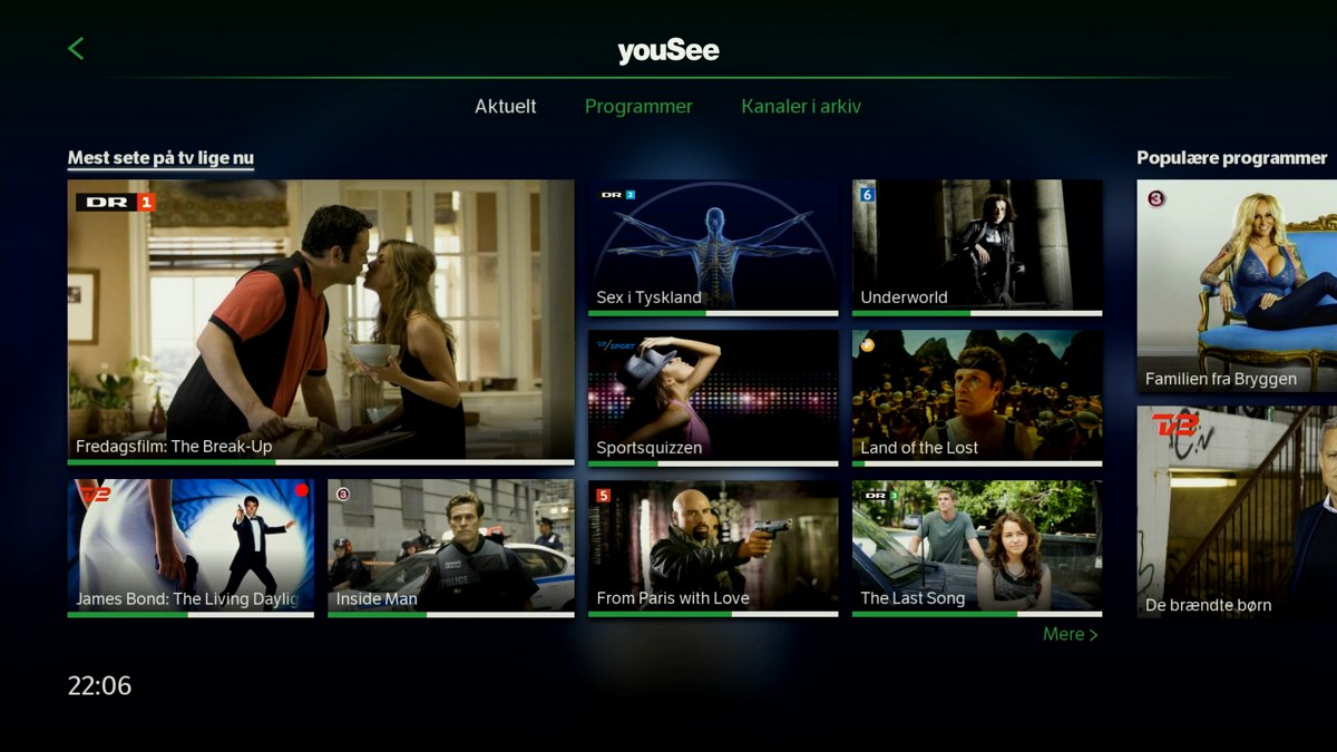 TV lige nu sorteret efter popularitet. Foto: recordere.dk