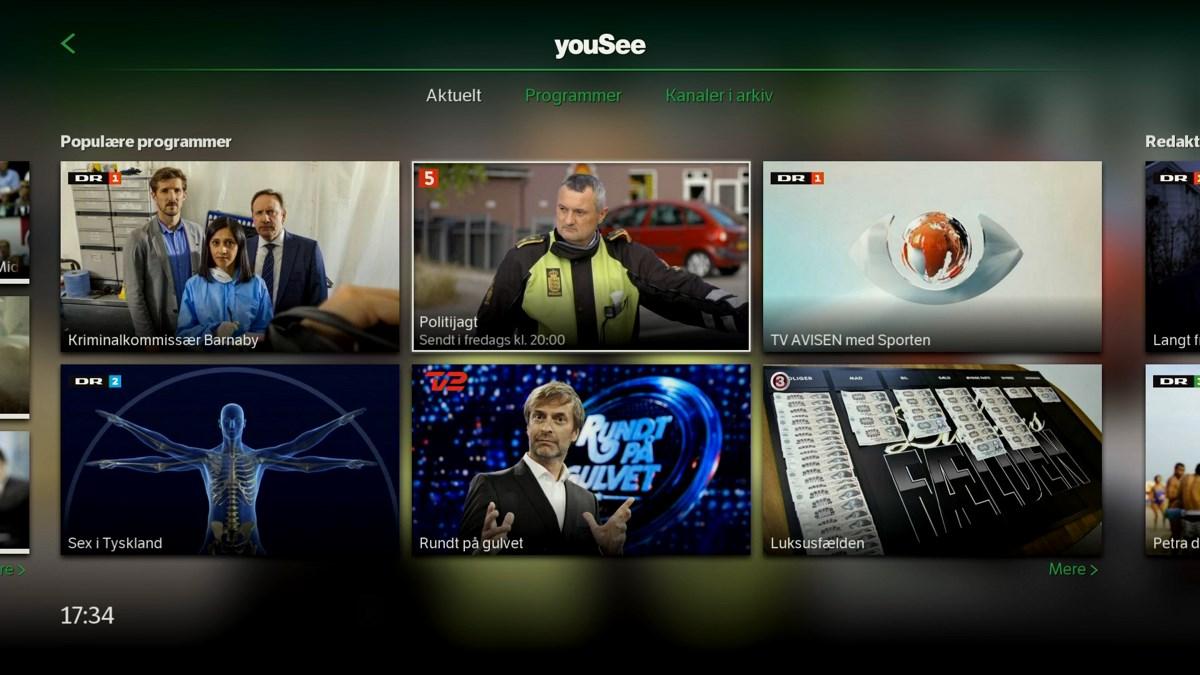 Min side har også populære programmer. Foto: recordere.dk