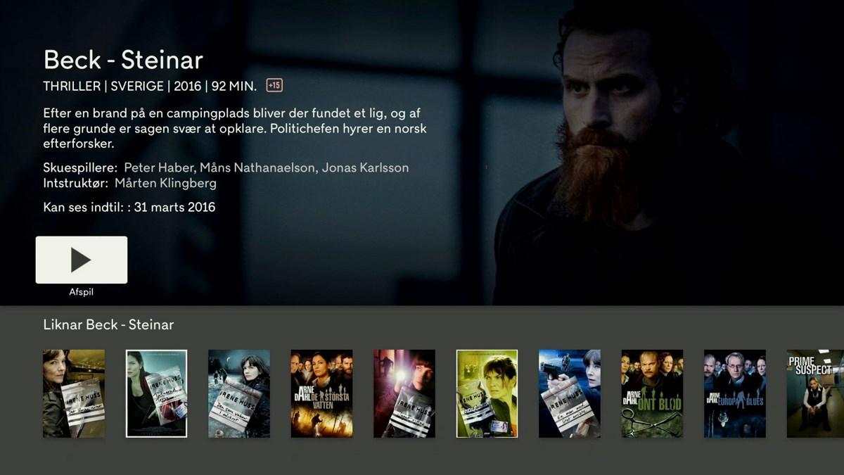 C More på Apple TV 4. Foto: recordere.dk