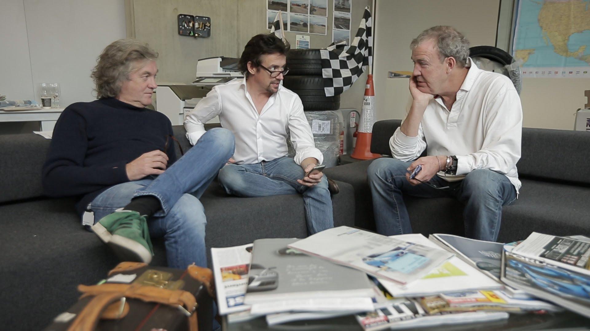 Jeremy Clarkson, Richard Hammond og James May. Foto: Amazon