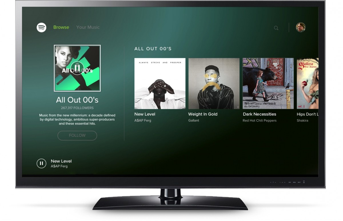 Spotify på Android TV. Foto: Spotify