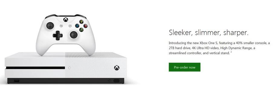 Formodet reklame af Xbox One S.