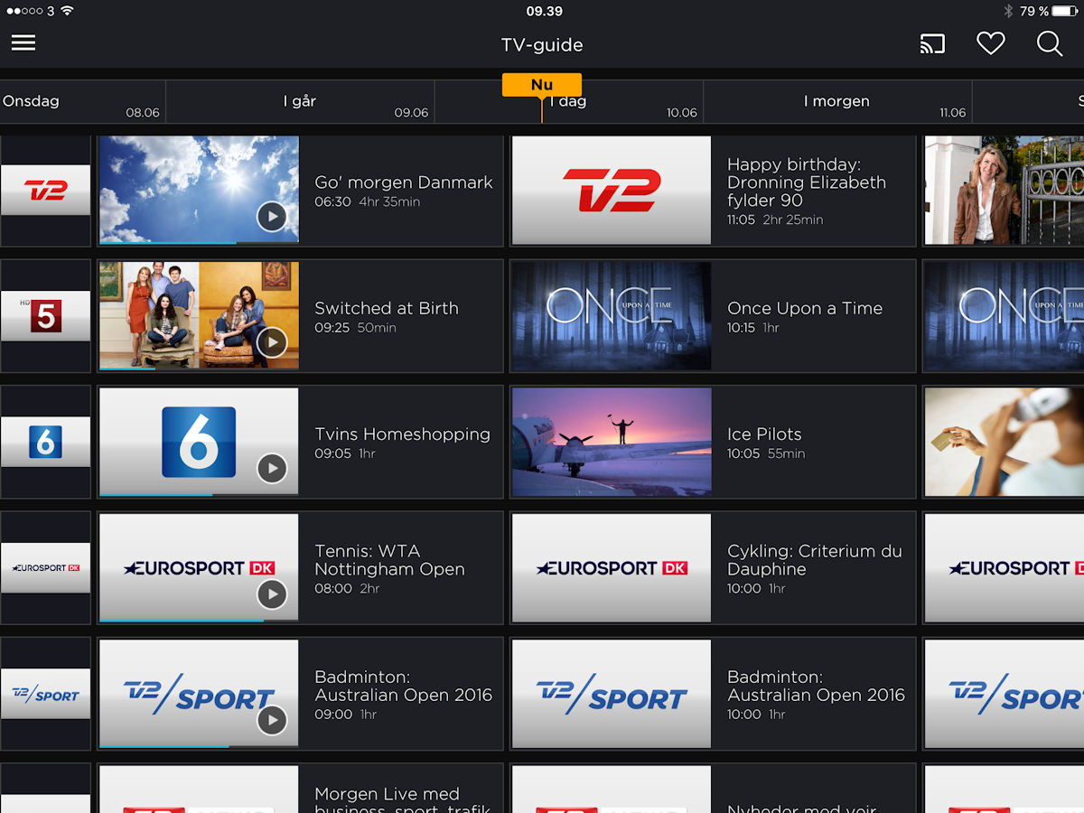 Canal Digital Go tv-guide. Screenshot: recordere.dk