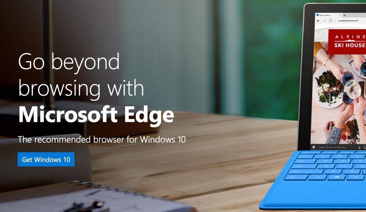 Det er kun Windows 10 ejere der kan bruge Edge browseren.