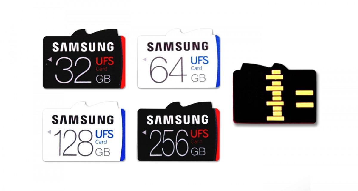 Samsung UFS memorykort.