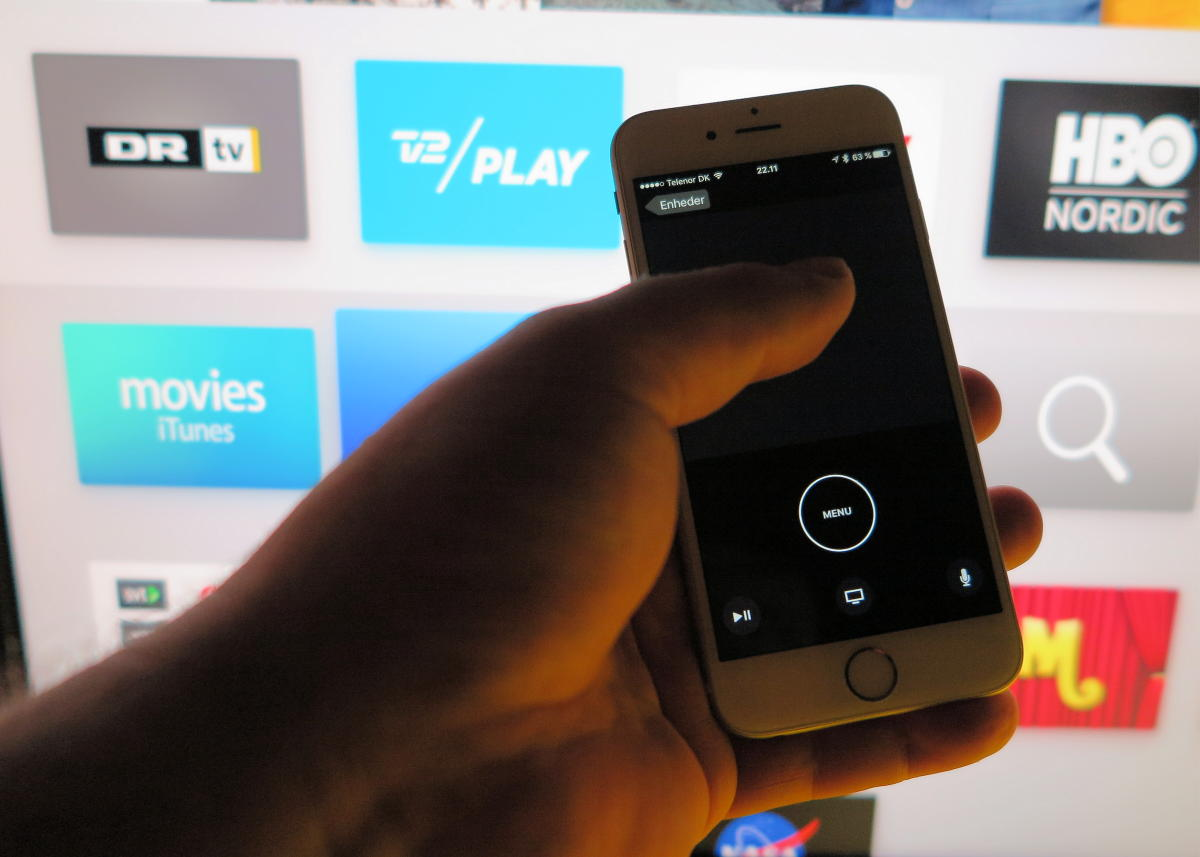 Apple TV Remote app. Foto: recordere.dk
