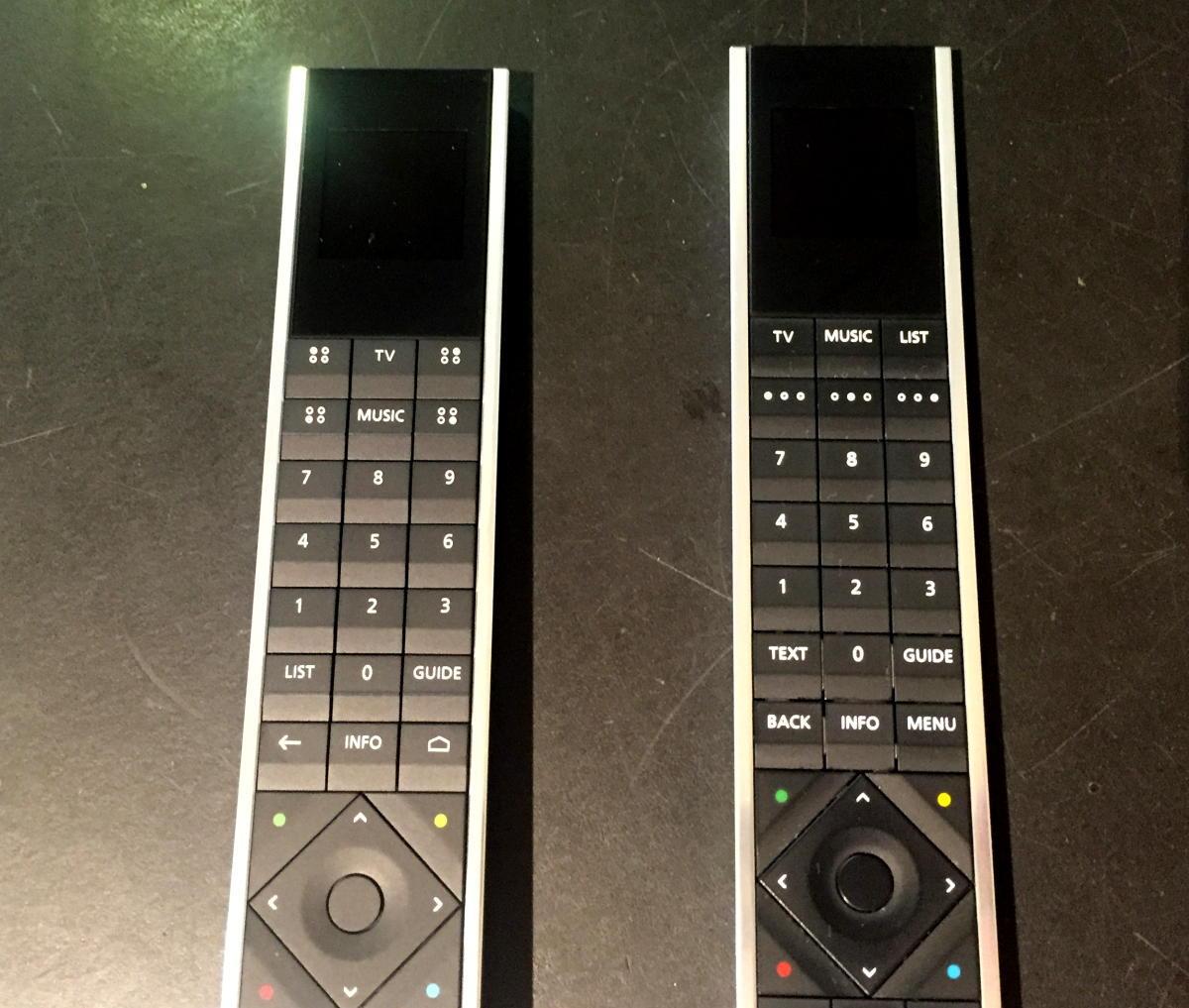 Den nye Beoremote One Bluetooth til venstre. Foto: recordere.dk
