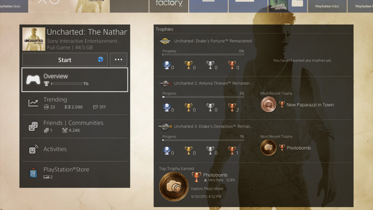 Content Info Screen