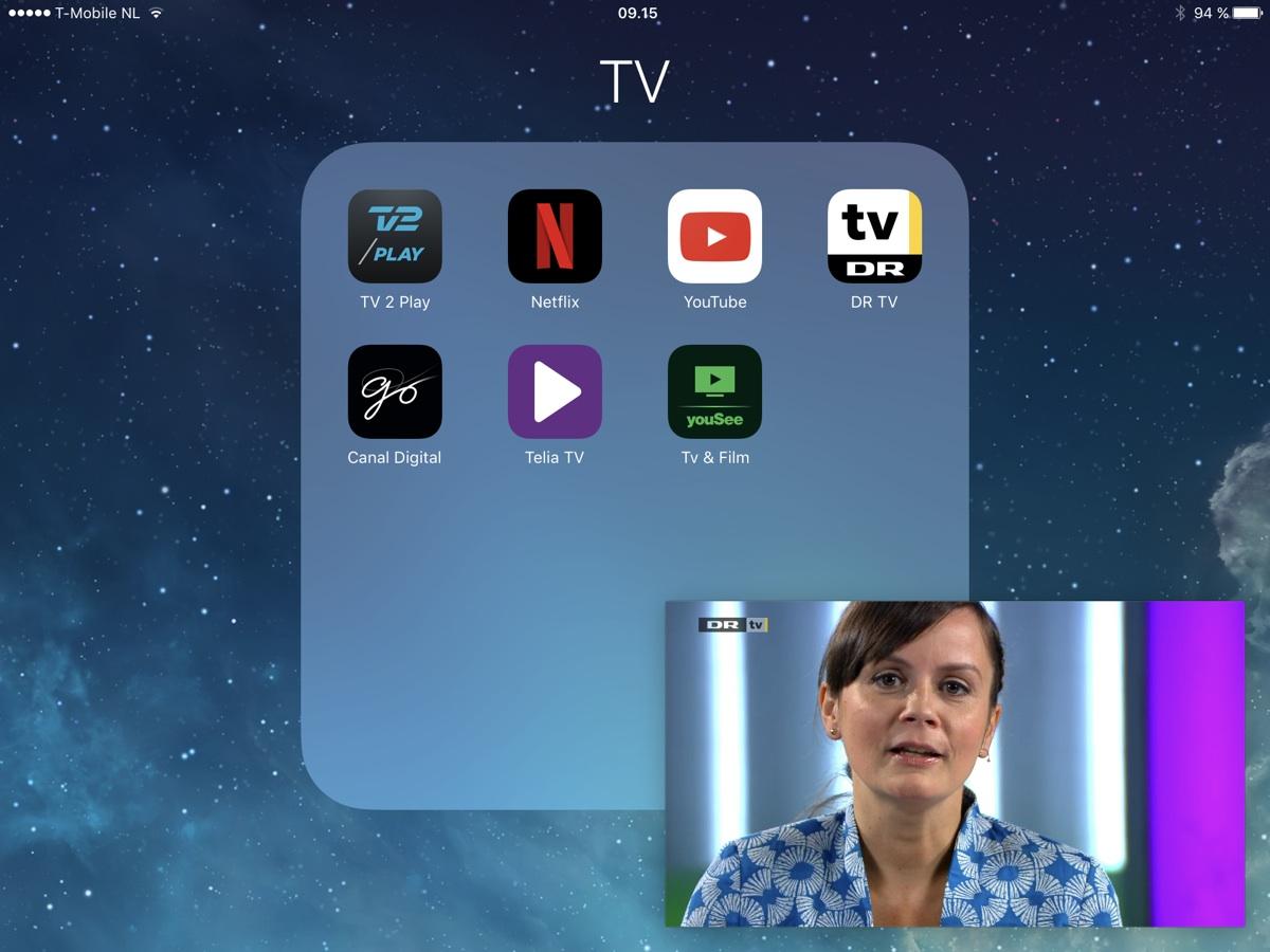 DRTV i PIP (Picture In Picture) på iPad. Foto: recordere.dk