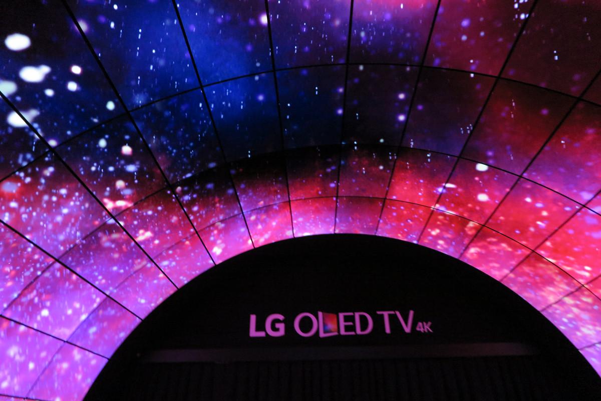 LG OLED på IFA 2016. Foto: recordere.dk
