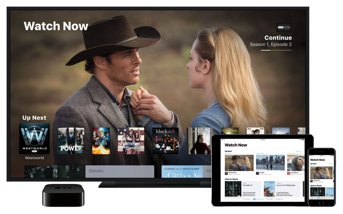 Watch Now på Apple TV, iPad og iPhone