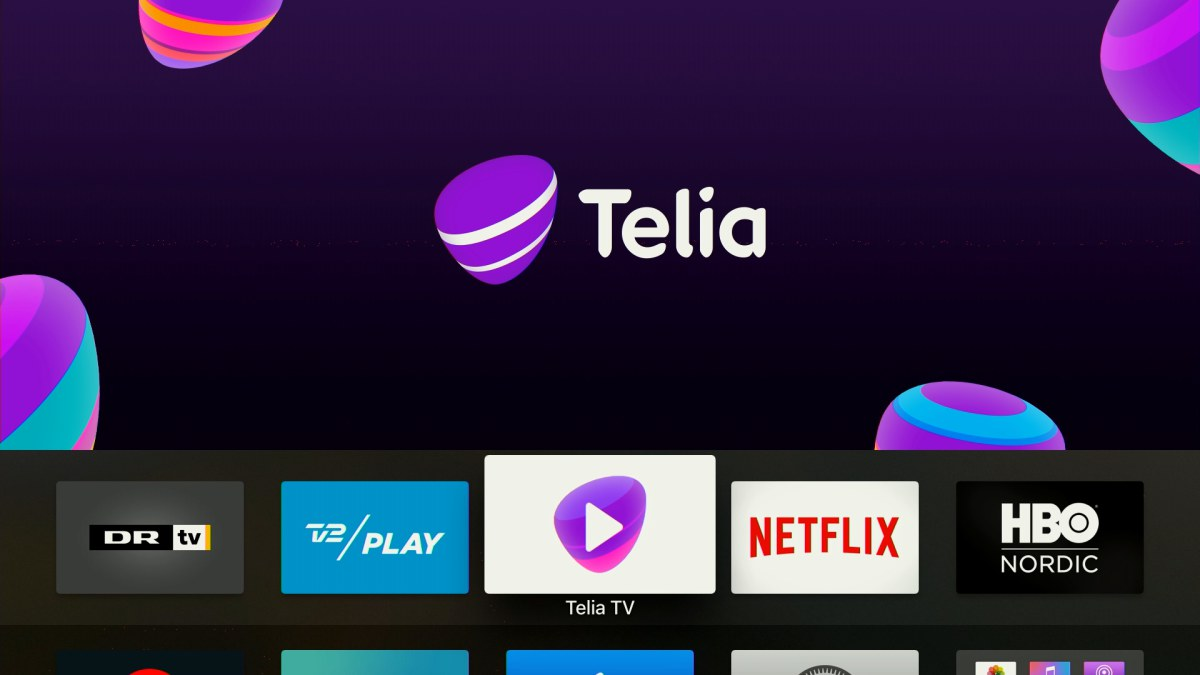 Telia TV på Apple TV 4. Foto: recordere.dk