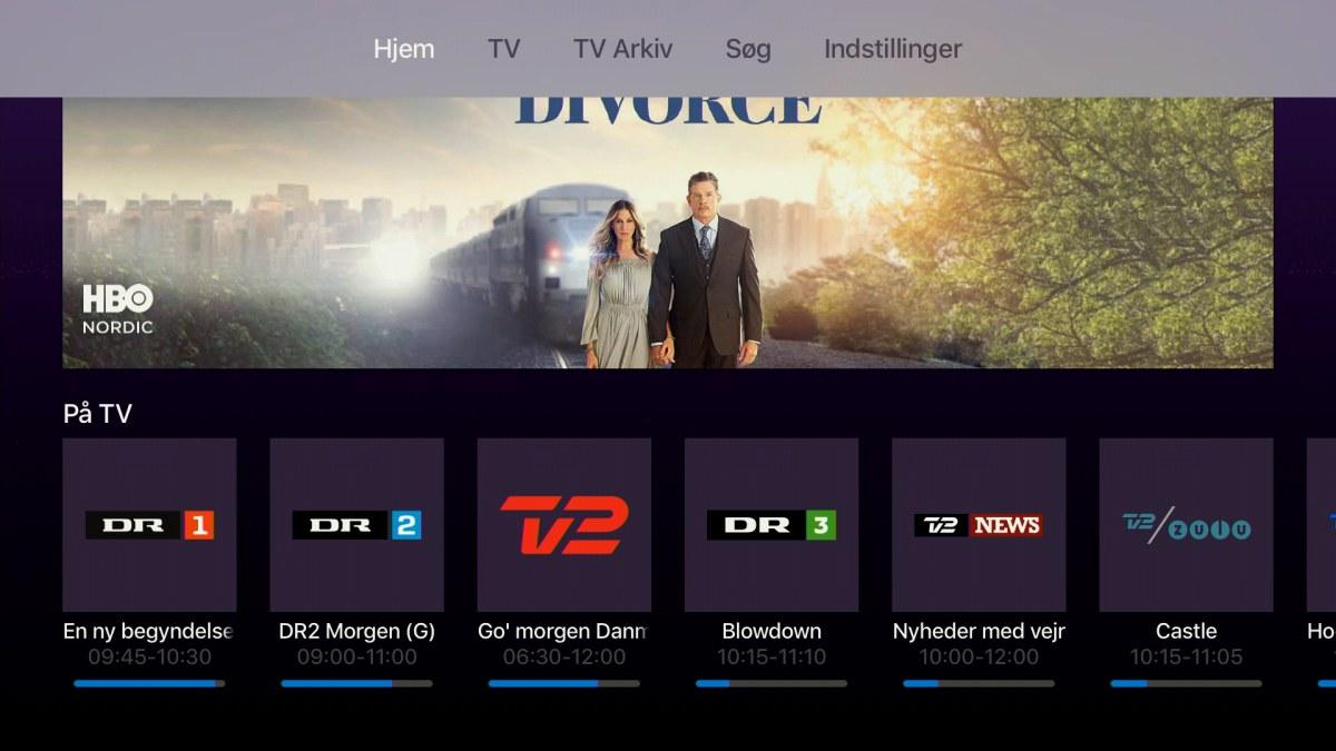 Telia TV på Apple TV 4. Foto: recordere.dk