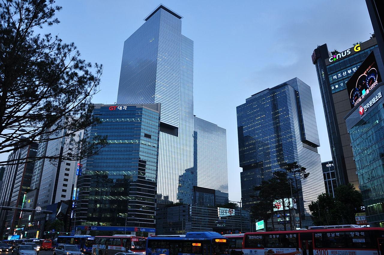 Samsungs hovedkvarter i 'Samsung Town' i Seoul (Foto: Oscar Alexanderson)