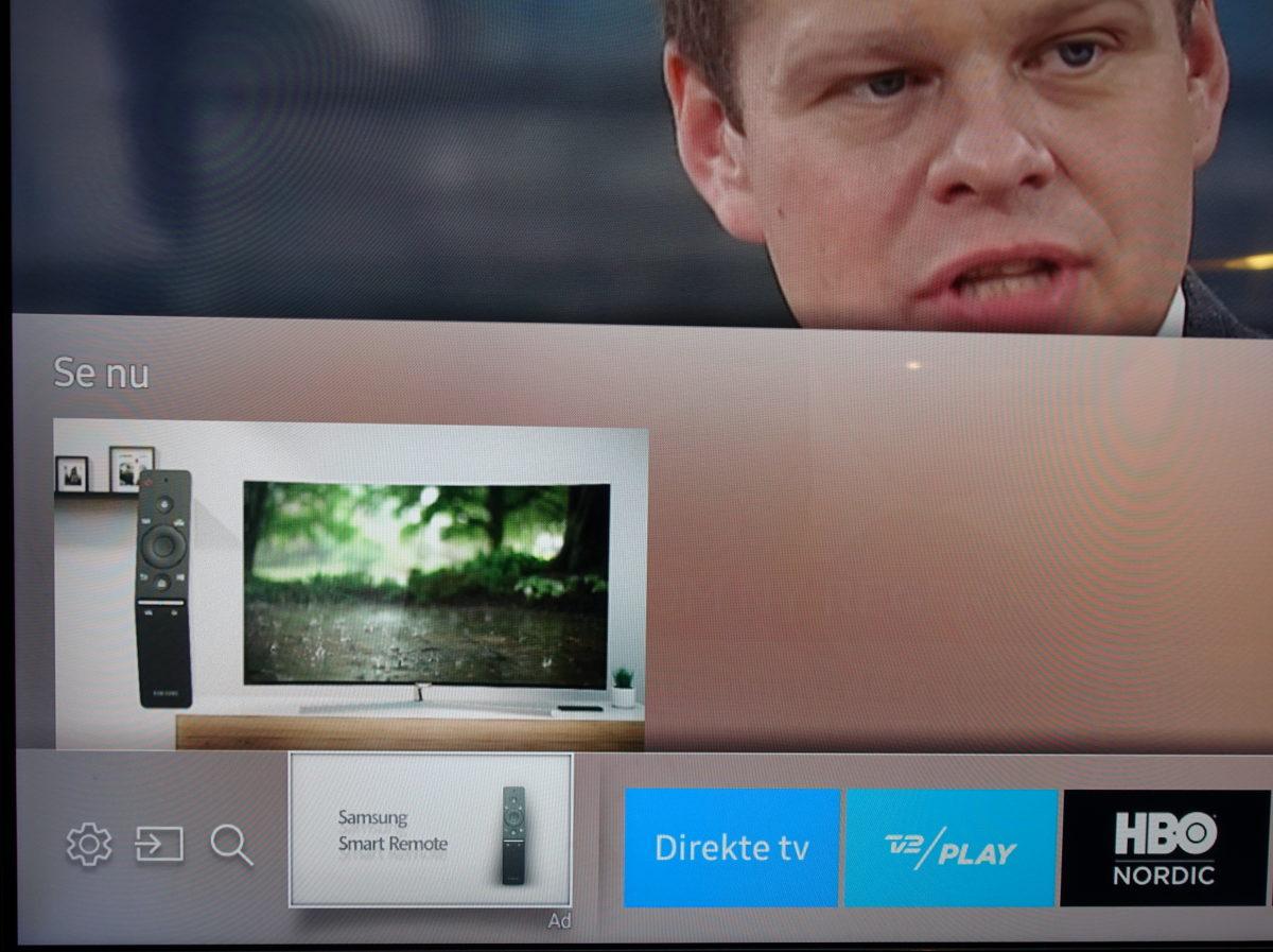 Reklamer på Samsung Smart TV. Foto: recordere.dk