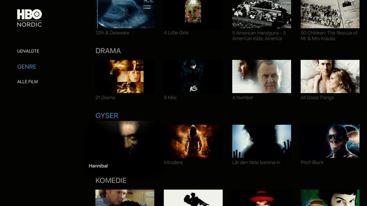 HBO opdaterer på Apple TV og iOS - recordere.dk