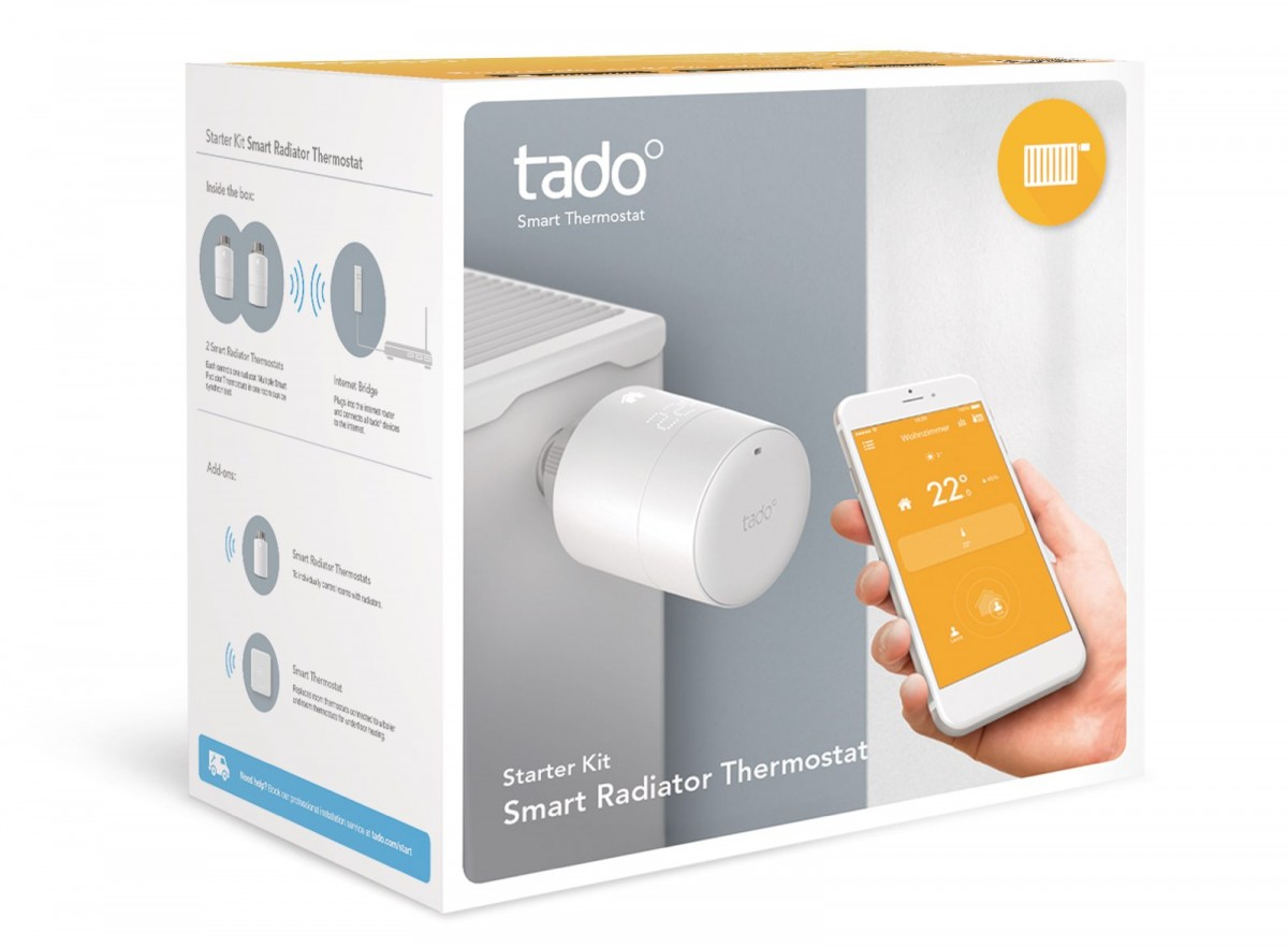 test del 1 tado smart radiator termostat udpakning. Black Bedroom Furniture Sets. Home Design Ideas