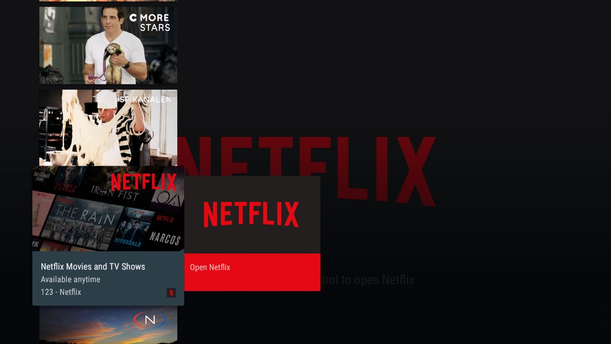 netflix canal digital box